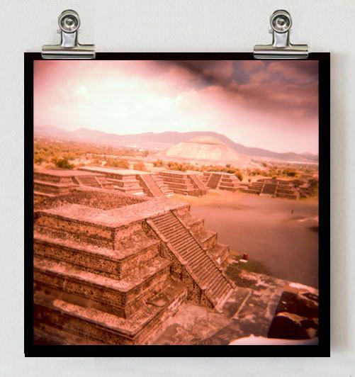 Pyramids of the Apocalypse, Holga Print Lost Kat Photography
