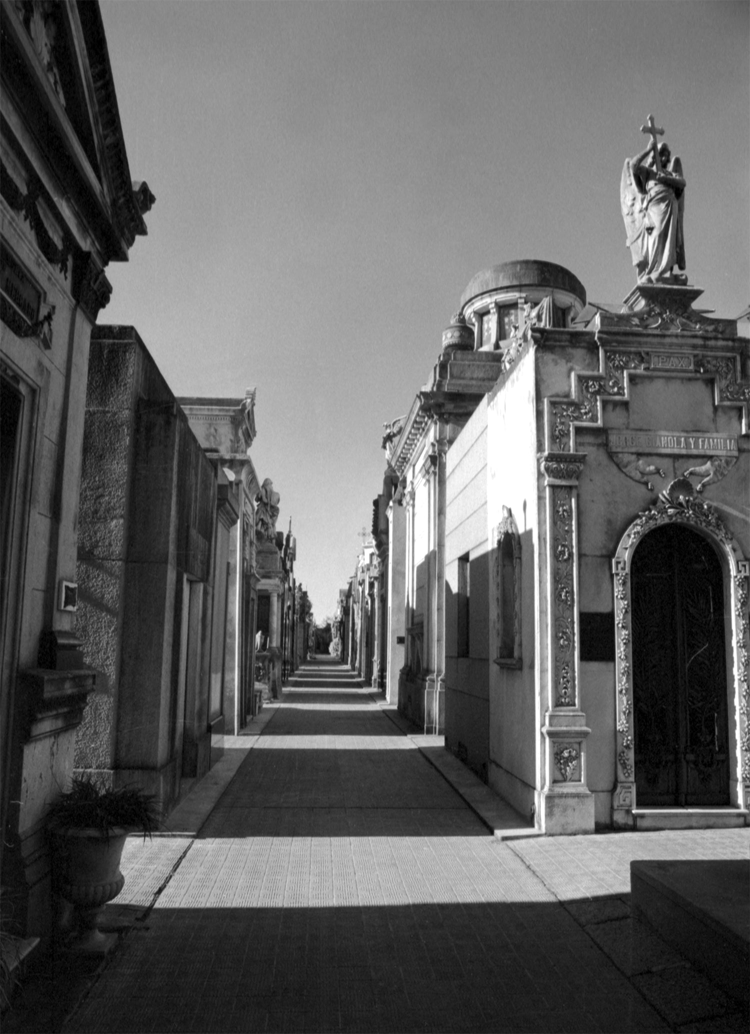Mausoleums in Recoleta, Black and White Film Art Print