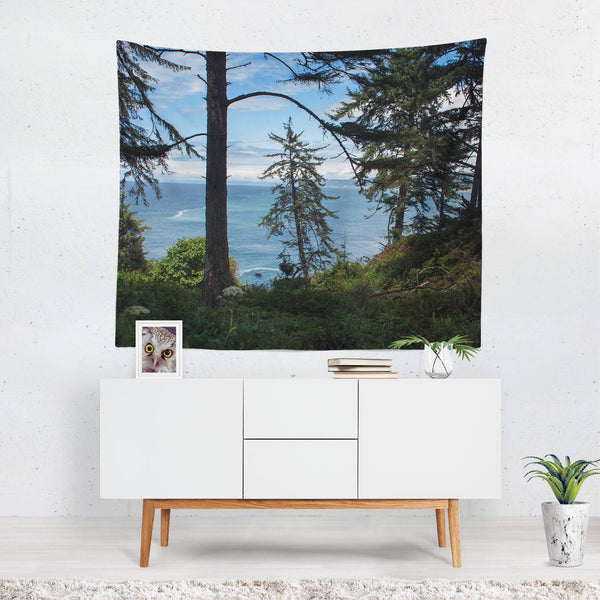 Redwood Coast Wall Tapestry, Northern California Lost In Nature