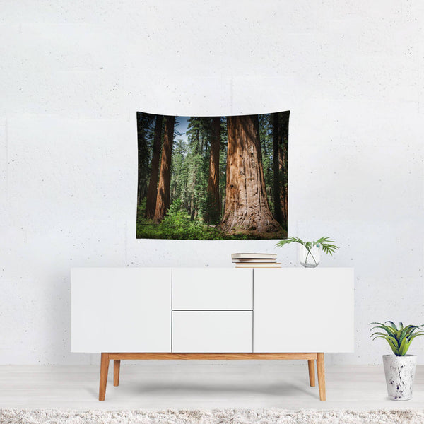 Redwood Forest Wall Tapestry Lost In Nature