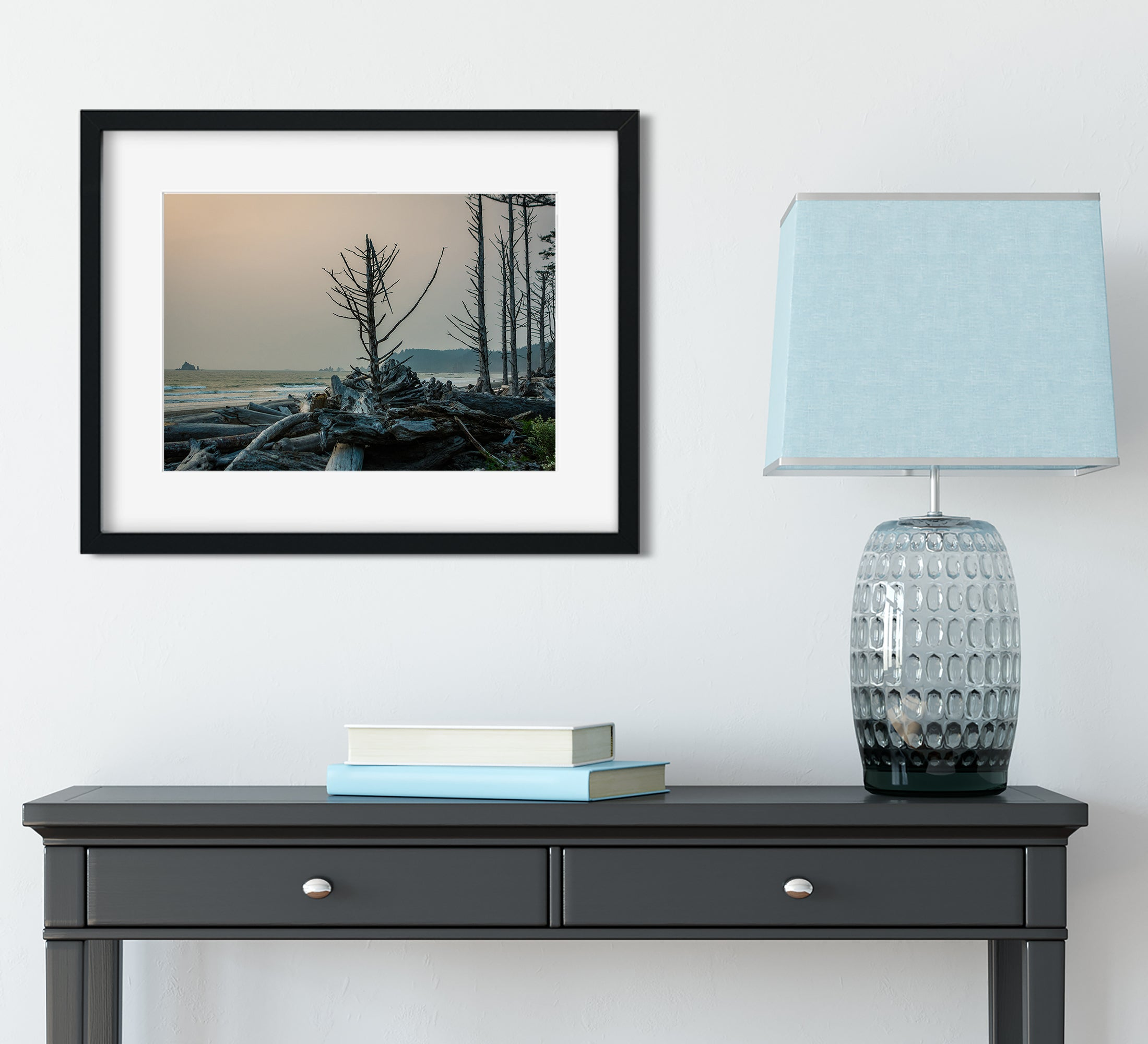 Rialto Beach Tree at Sunset, Olympic Peninsula Art Print