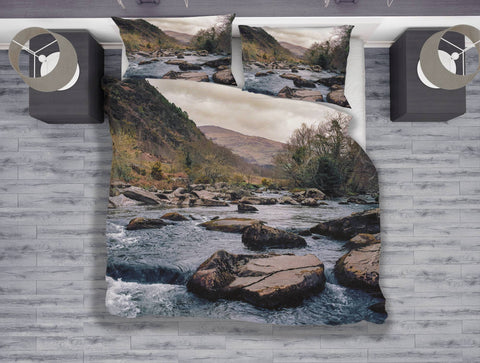 Rocky River Wales Duvet Cover Set - Twin, Queen, King Lost in Nature