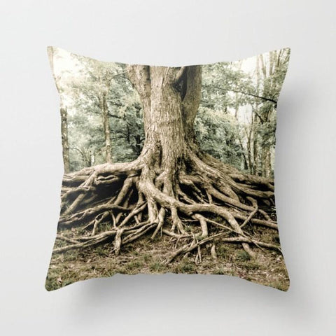 Roots of Life Throw Pillow Lost In Nature