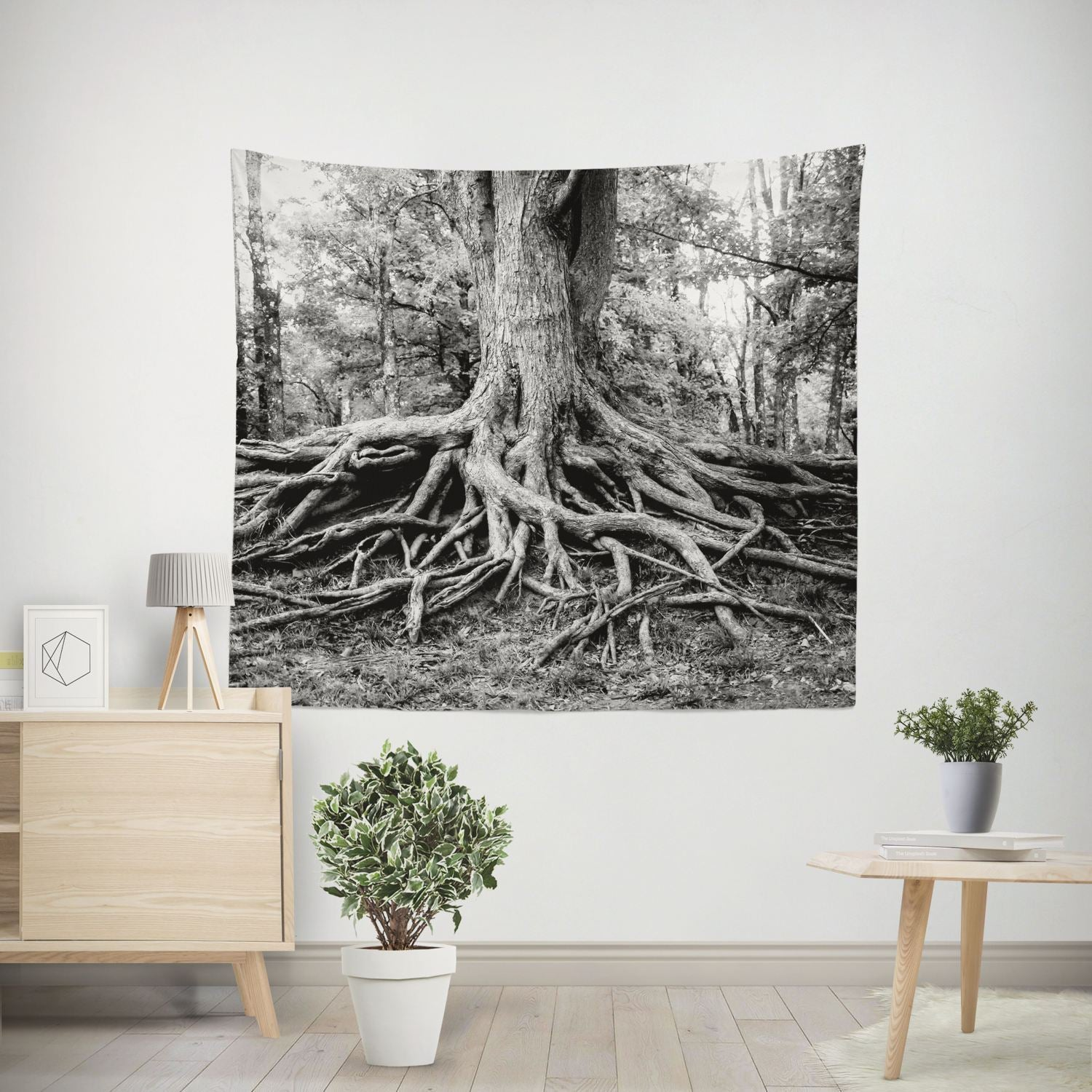 Roots of Life, Tree Wall Tapestry Lost In Nature