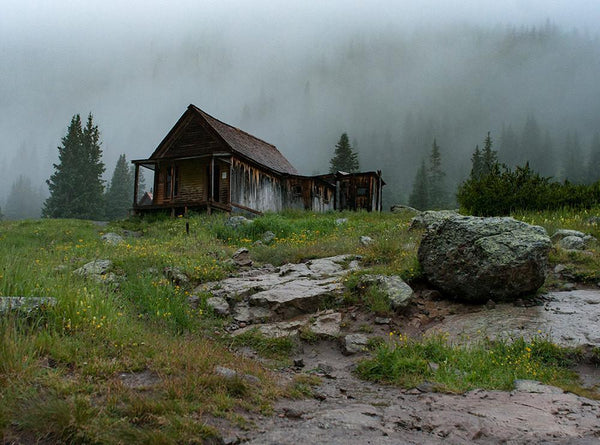 Rustic Cabin Photography, Colorado Mountain Photography - Fine Art Print Lost Kat Photography