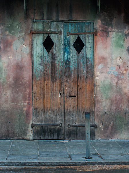 Rustic Door, French Quarter, New Orleans Photography - Fine Art Print Lost Kat Photography