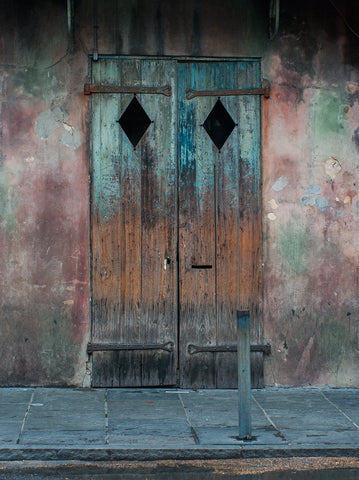 Rustic Door, French Quarter, New Orleans Photography   Fine Art Print Lost  Kat Photography