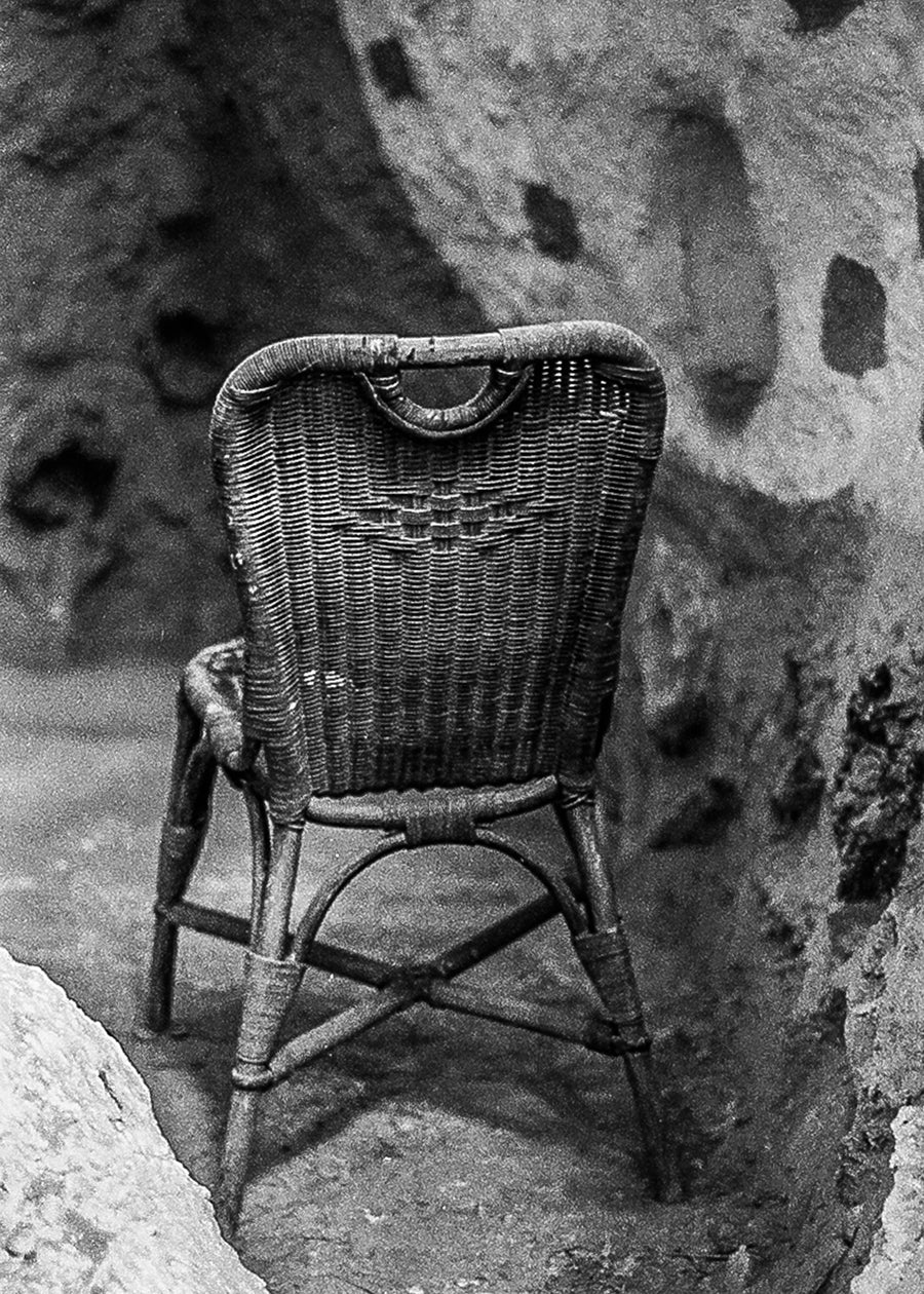 Wicker Chair Salvation Mountain California Wall Art Print