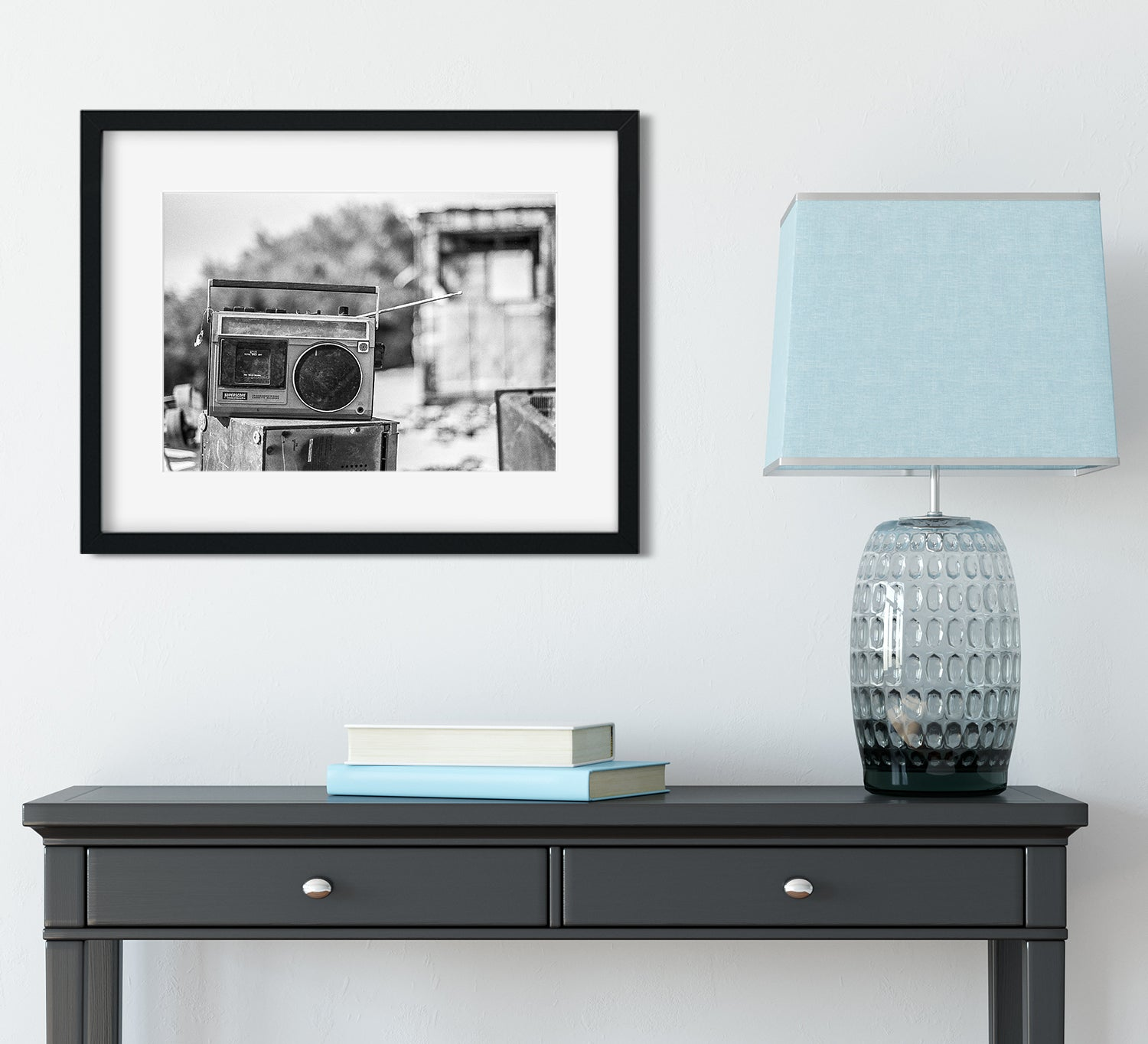 Boombox in the Desert - Salton Sea Wall Art Print