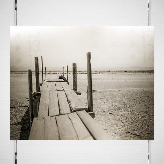 Salton Sea Dock, Black and White Photography Lost Kat Photography