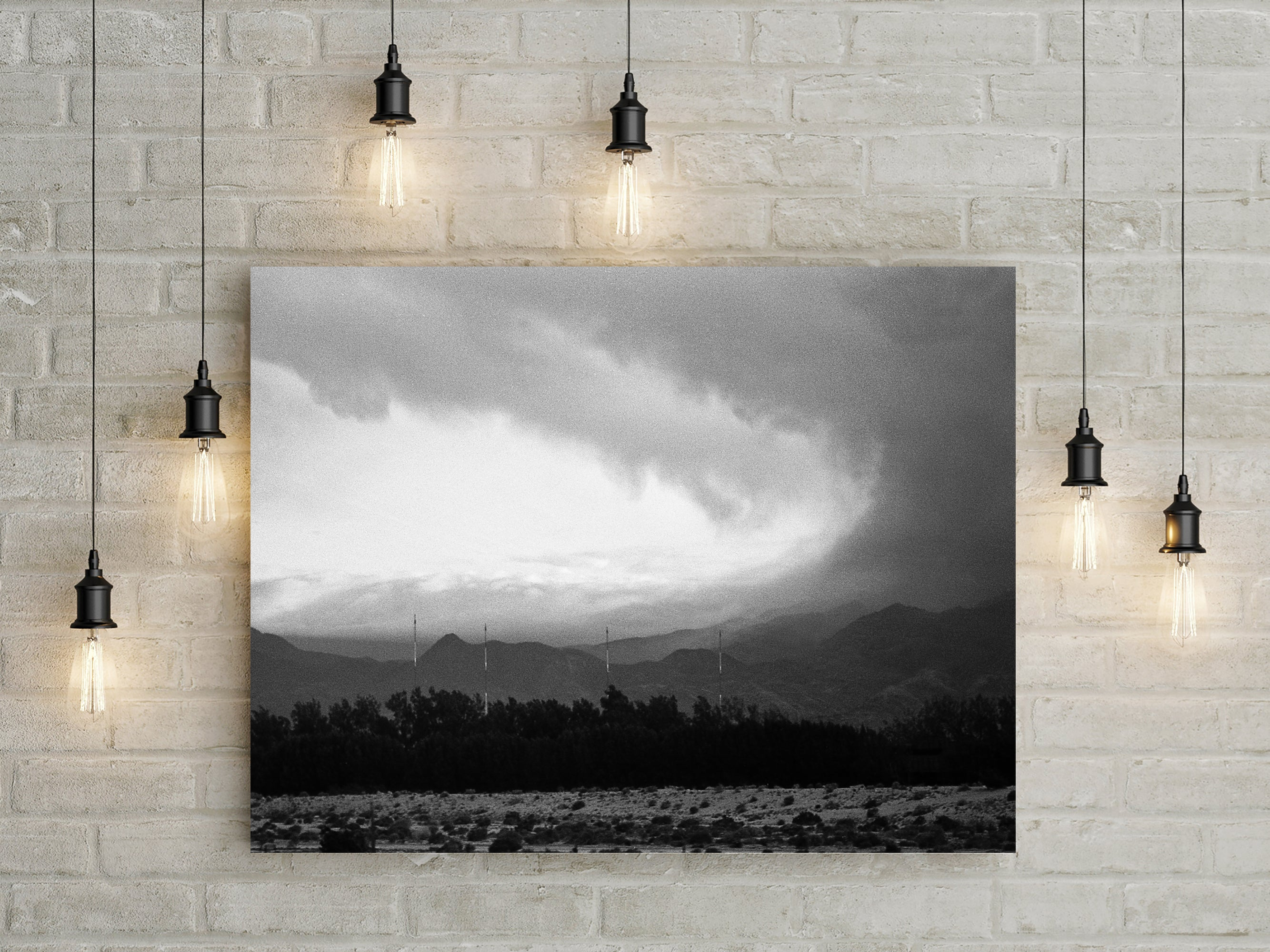 Salton Sea Storm Over The Obsidian Mountains Art Print