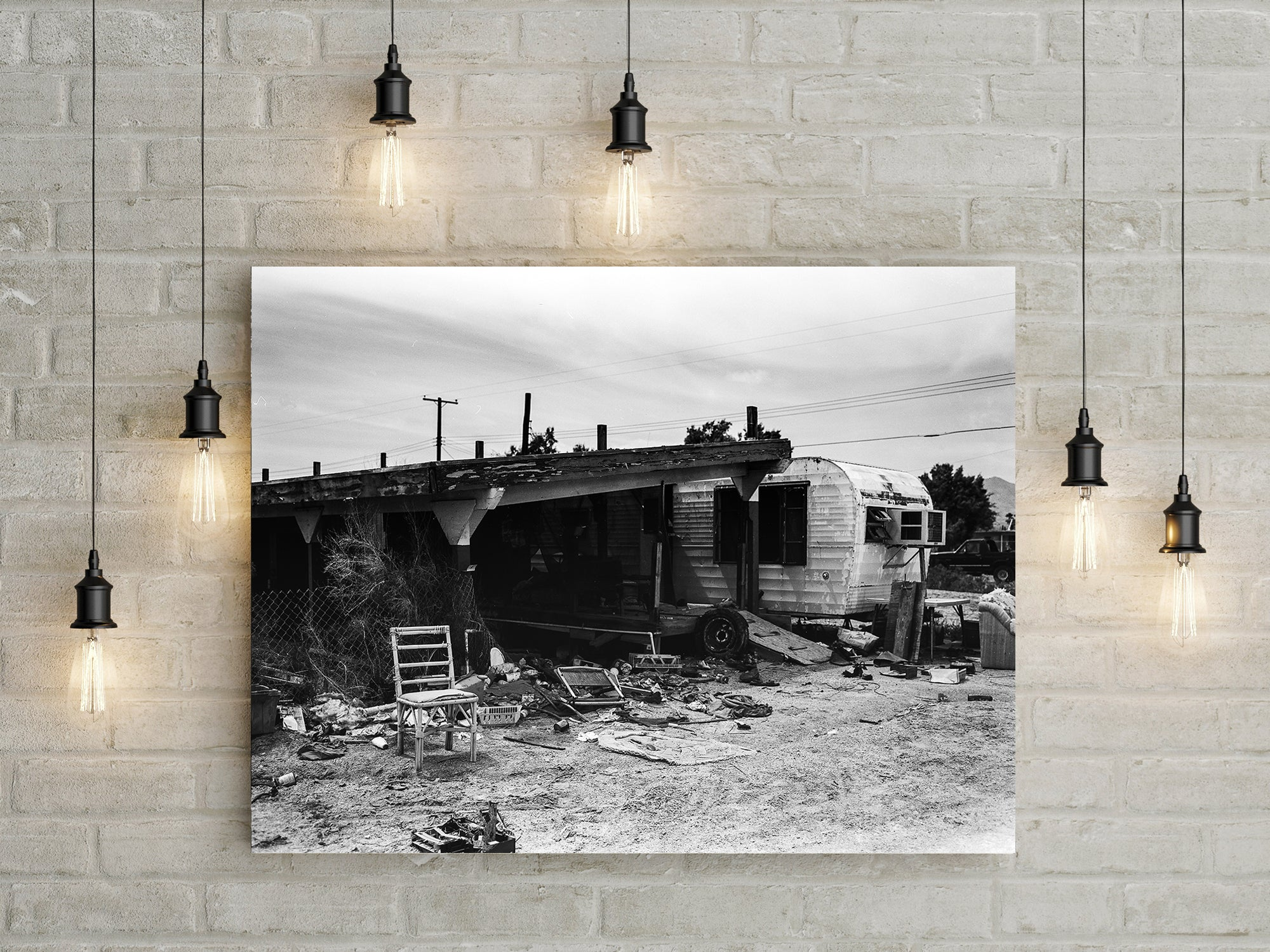 Once Was Home, Salton City California, Black and White Art Print