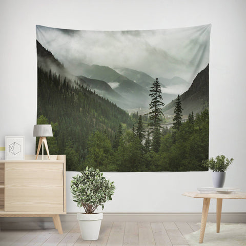 Scenic Mountain Wall Tapestry Lost in Nature