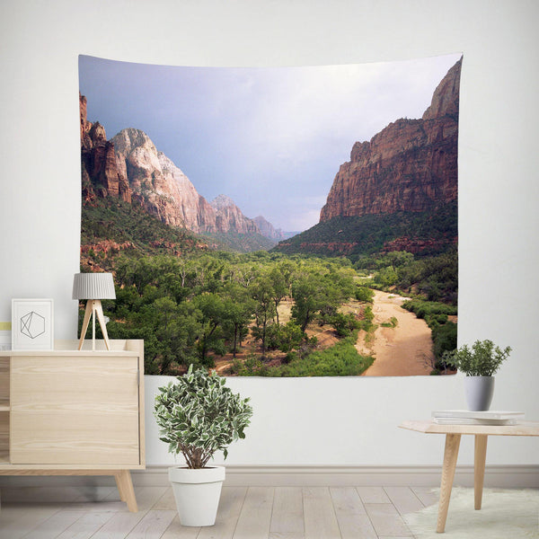 Scenic Zion Valley Wall Tapestry Lost in Nature