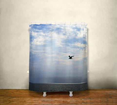Sea Bird, Nautical Shower Curtain Lost In Nature