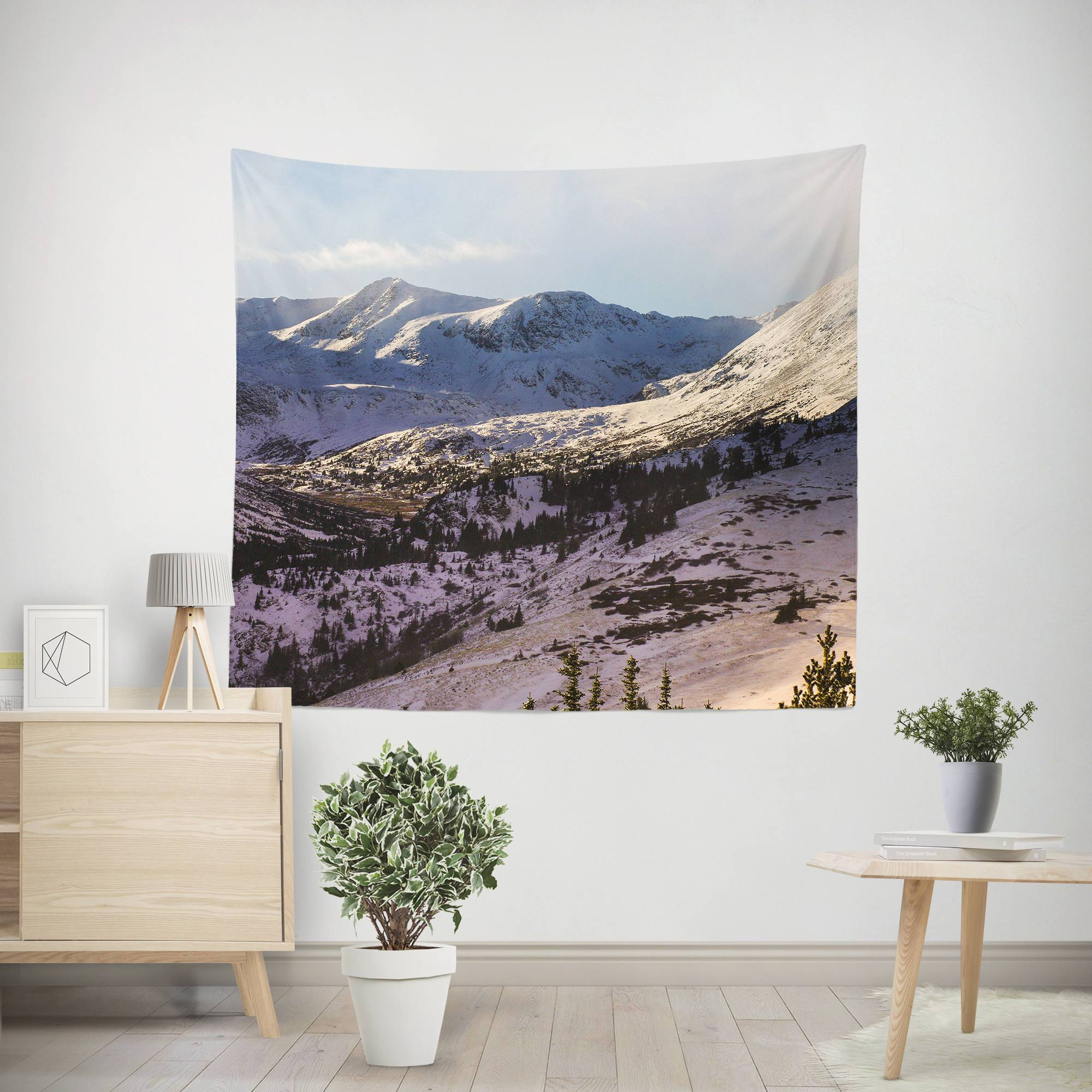 Shadow of the Mountain Wall Tapestry Lost In Nature