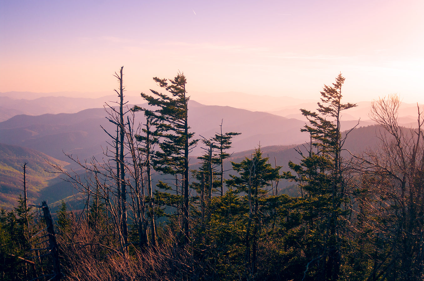 Sunset in the Smoky Mountains Photo Print