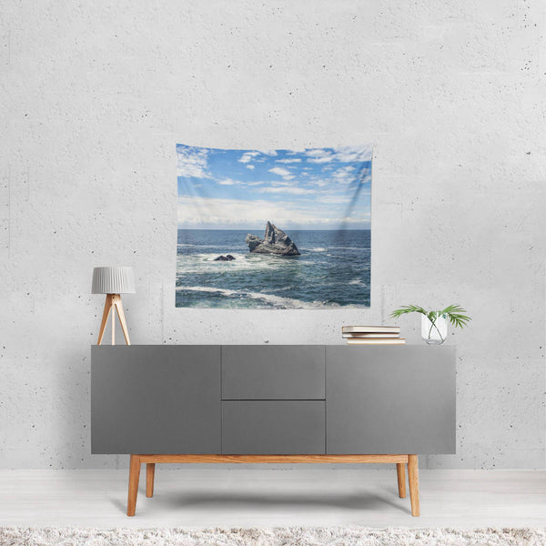 Solitude at Sea, California Coast Wall Tapestry Lost Kat Photography