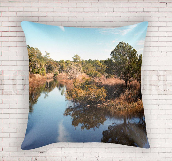 "South Carolina 18"" Throw Pillow Lost In Nature"