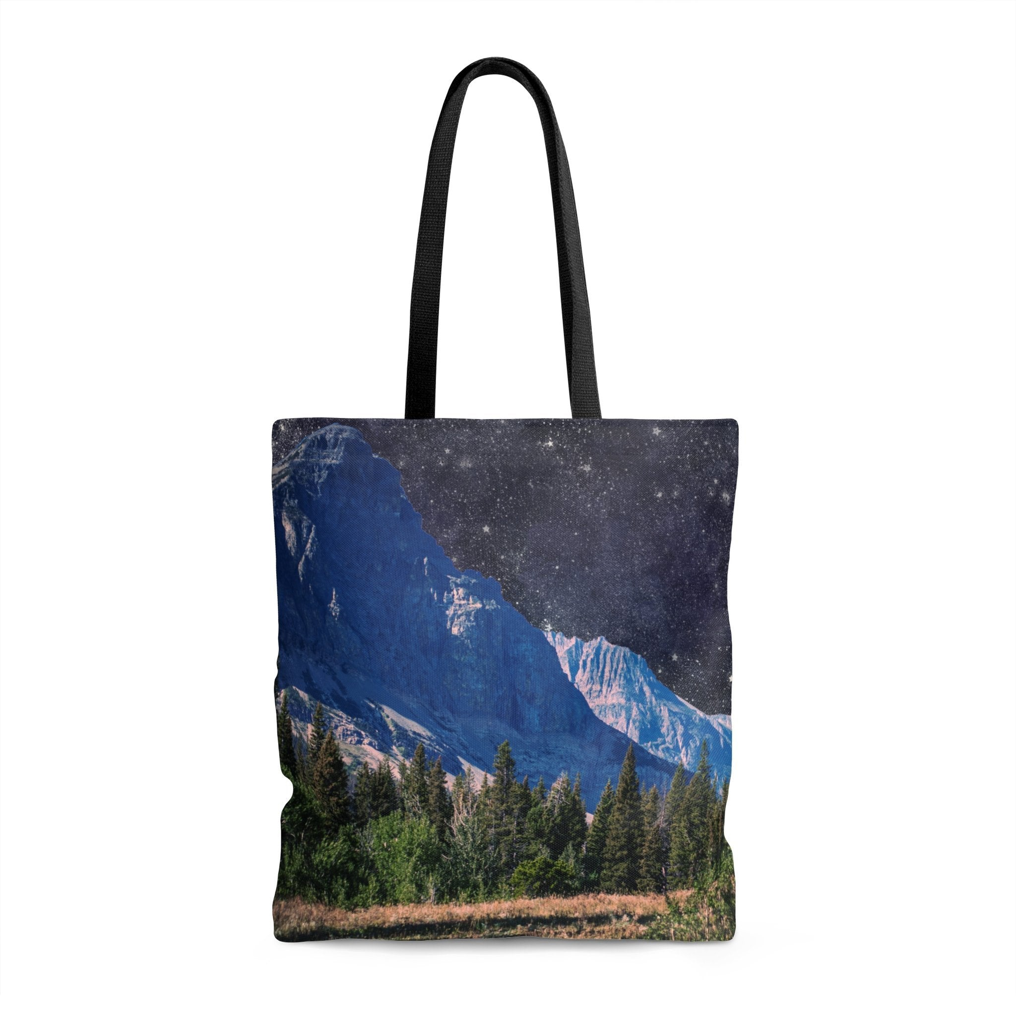 Space Mountain Tote Bag 13x13 in Printify