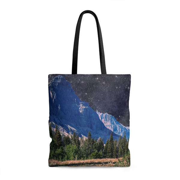 Space Mountain Tote Bag 18x18 in Printify
