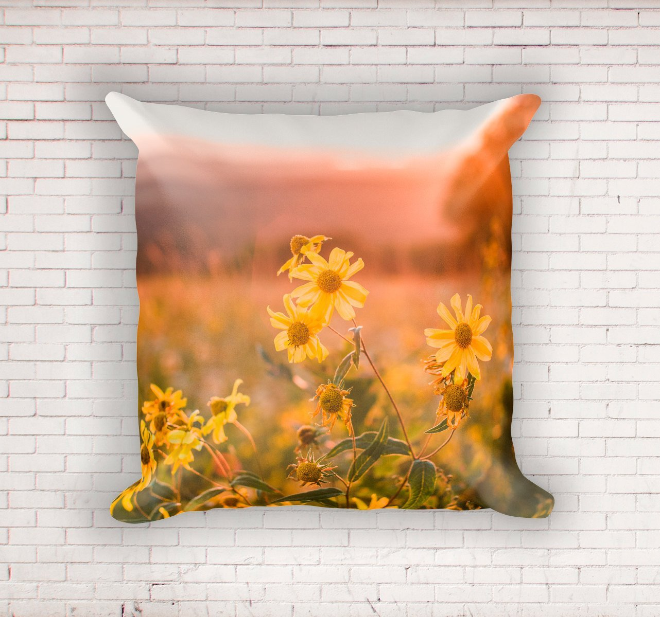Sunshine and Wildflowers Throw Pillow Lost In Nature