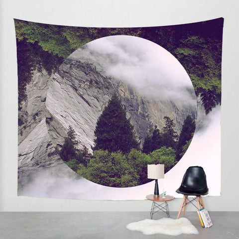 Surreal Mountain Wall Tapestry Lost In Nature