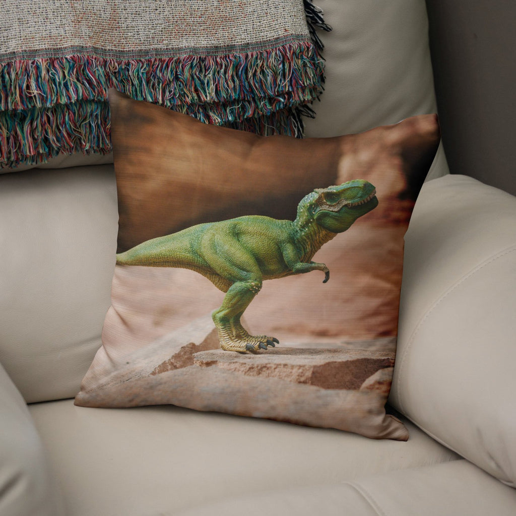 "T-Rex 18"" Throw Pillow Lost In Nature"