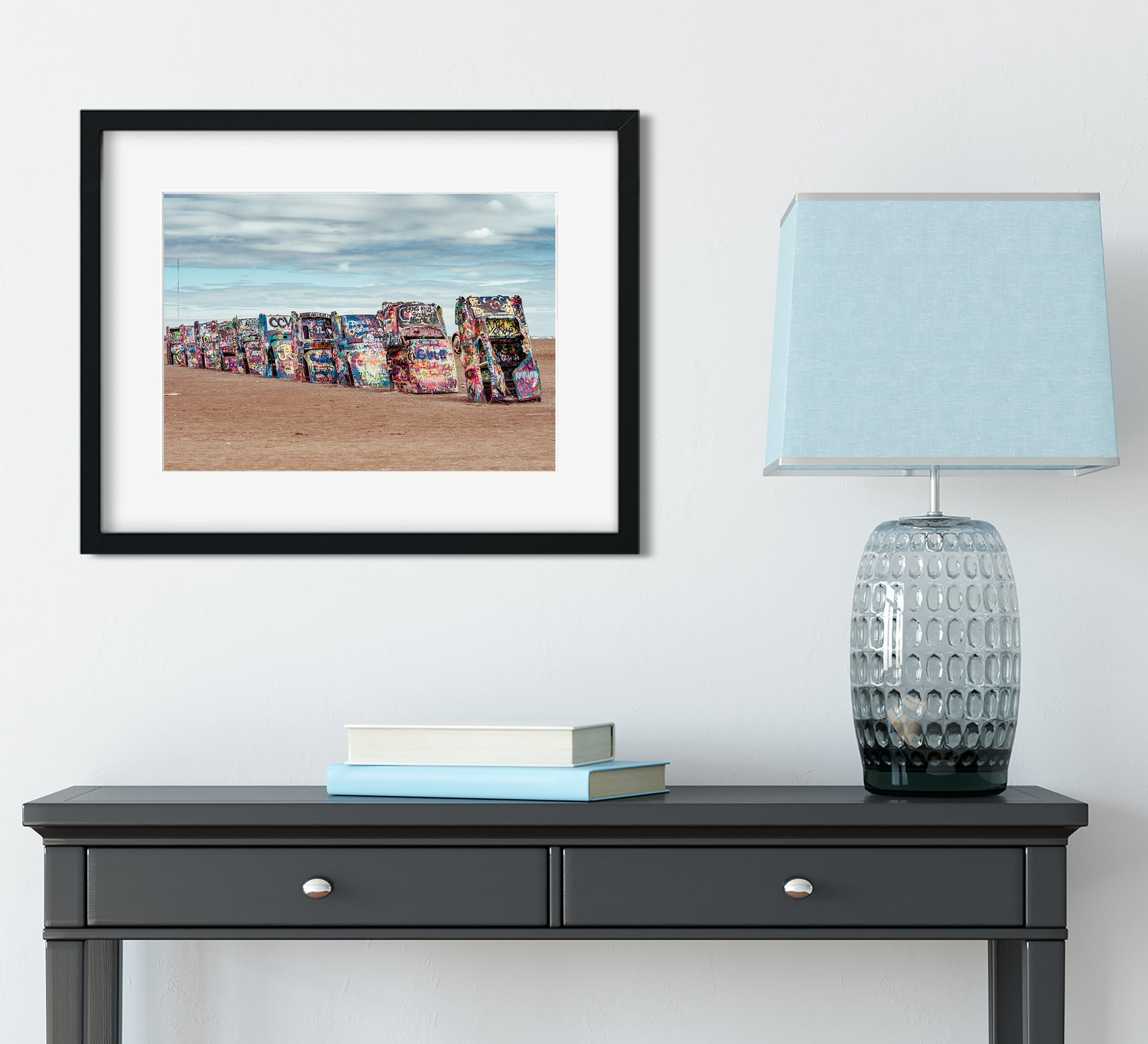Cadillac Ranch, Amarillo Texas Photography Print