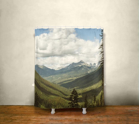 The Great Unknown Canada Mountains Shower Curtain Lost in Nature