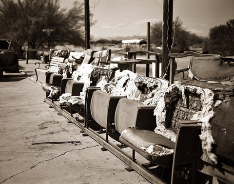 The Range, Slab City, Black and White Fine Art Print Lost Kat Photography