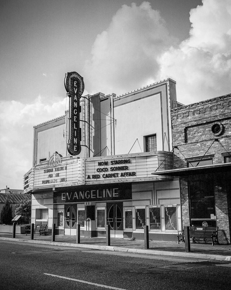 Theater Photography, Black and White Architecture Print, Historic Building, Louisiana Photography, Old Sign Photo, Broadway Decor, Acting Lost Kat Photography