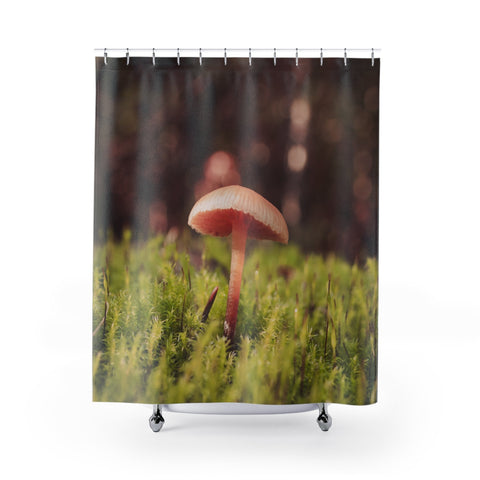 Tiny Mushroom Shower Curtains 71x74 Printify