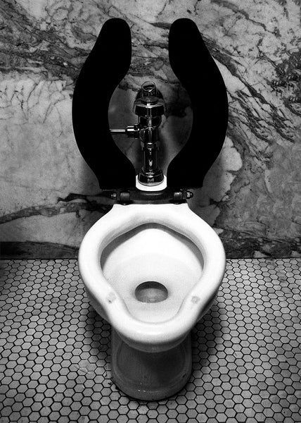 Luxury Toilet Black and White Wall Art Print - Many Sizes