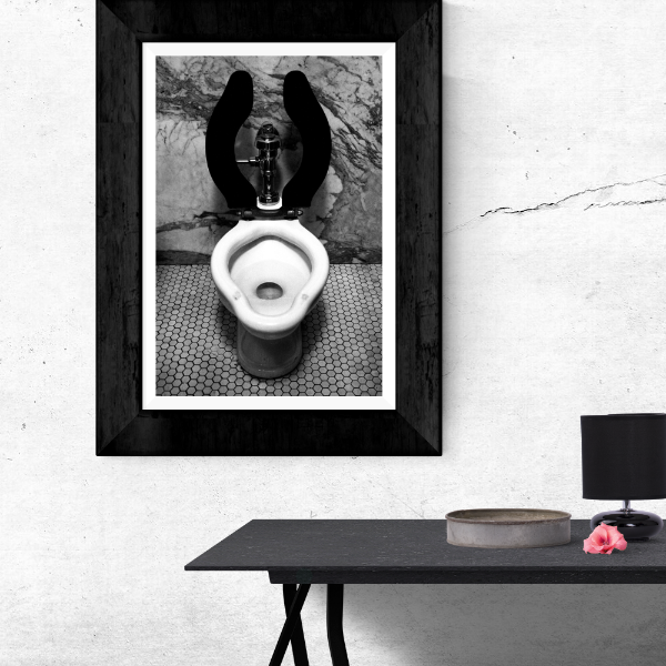 Luxury Toilet Black and White Film Photography Print