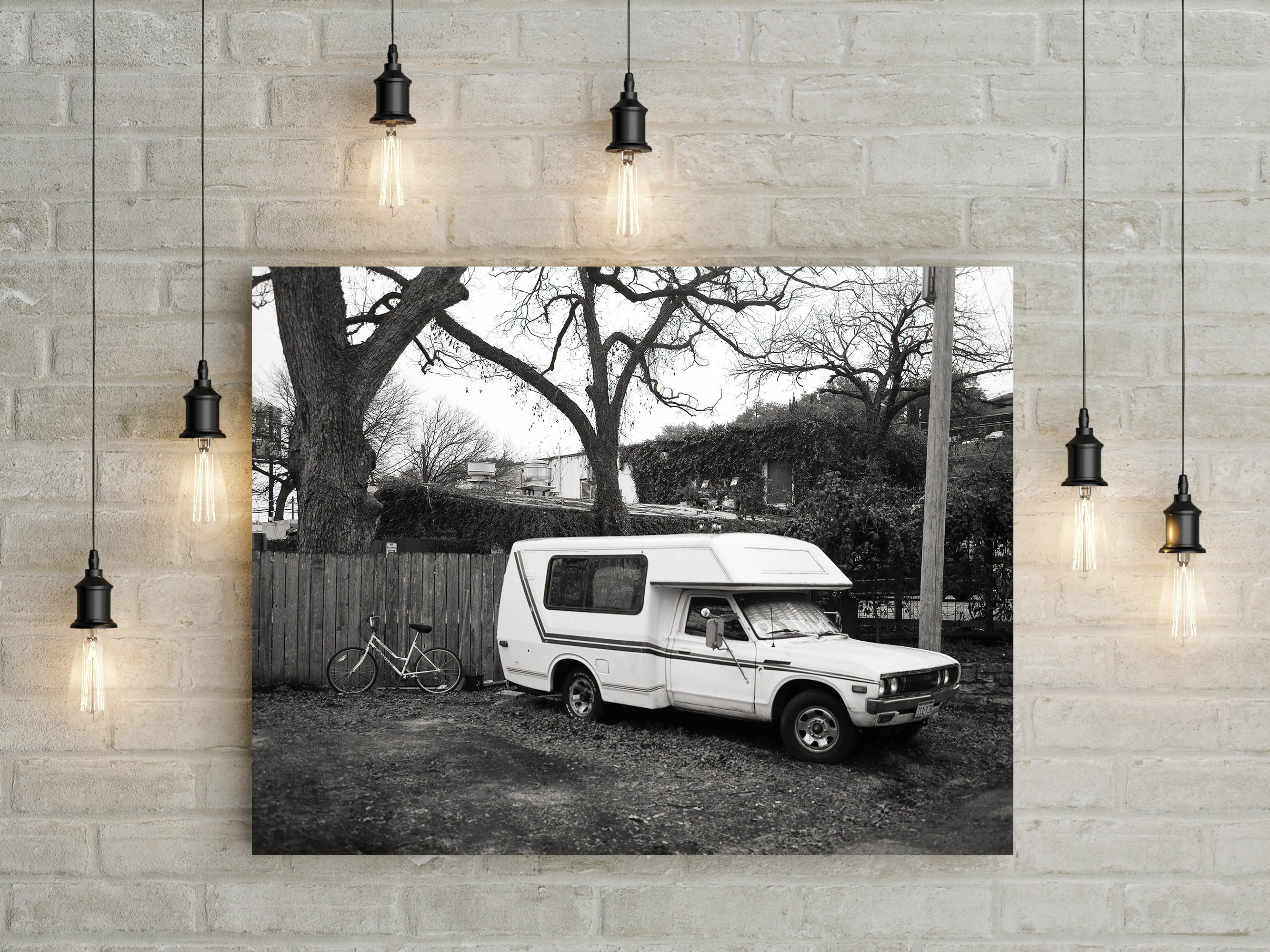 The Simple Life, Toyota Chinook RV Black and White Print