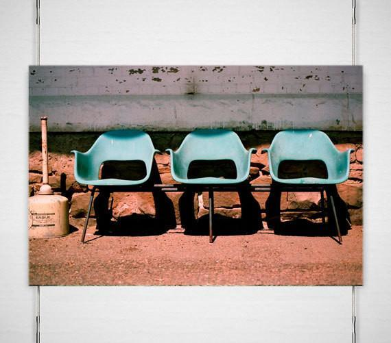 Train Station Chairs, Montana Lost Kat Photography