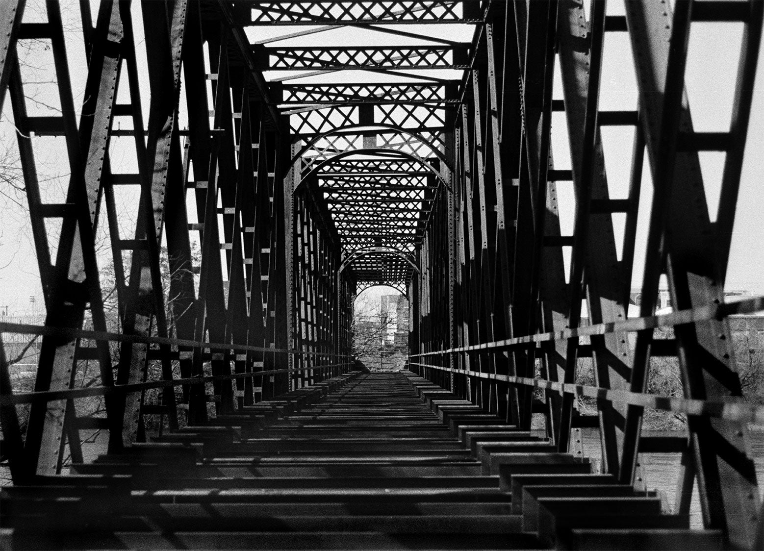 Train Bridge, Minimalist Black and White