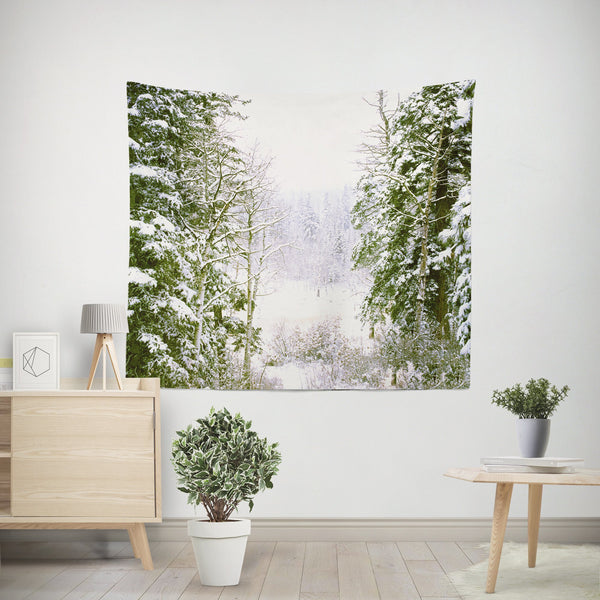 Tree Break, Colorado Wall Tapestry, Rocky Mountain Decor Lost In Nature