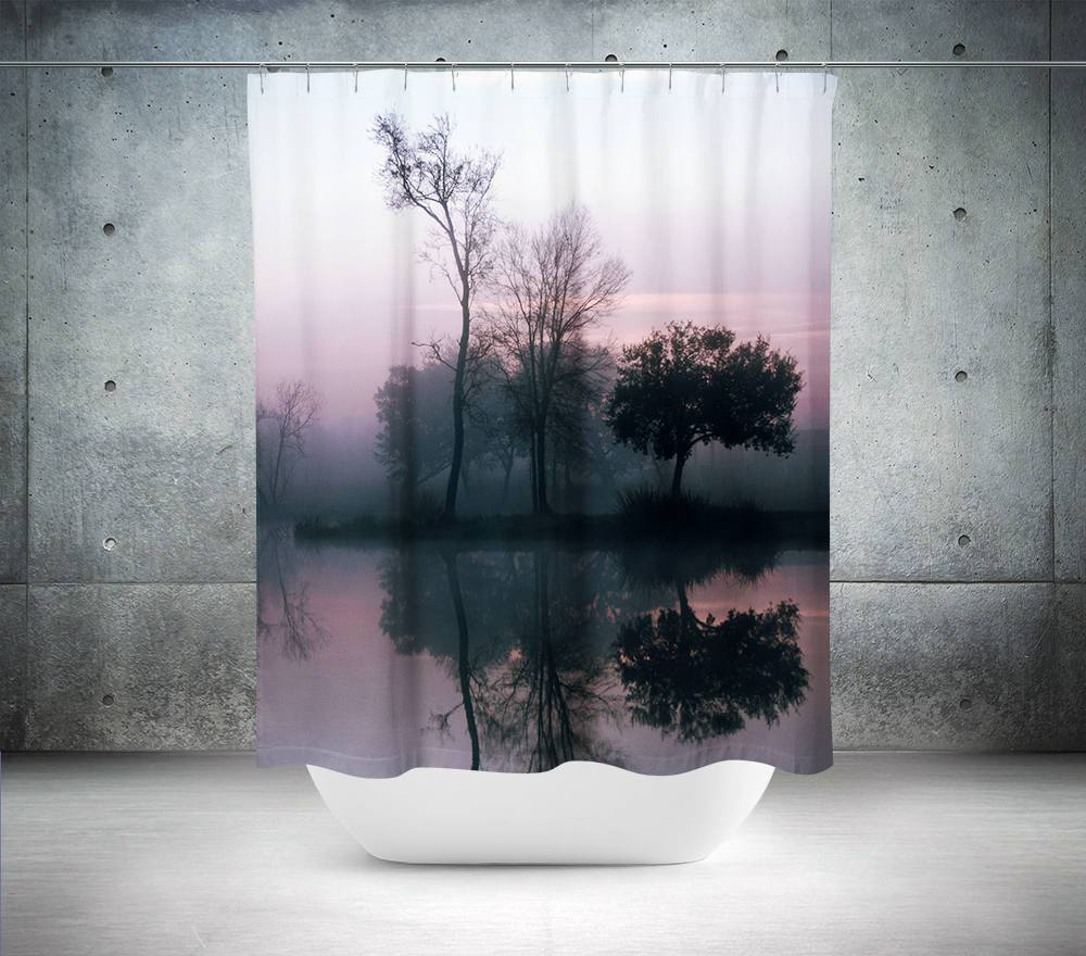 Tree Reflection Sunrise Wall Tapestry Lost in Nature