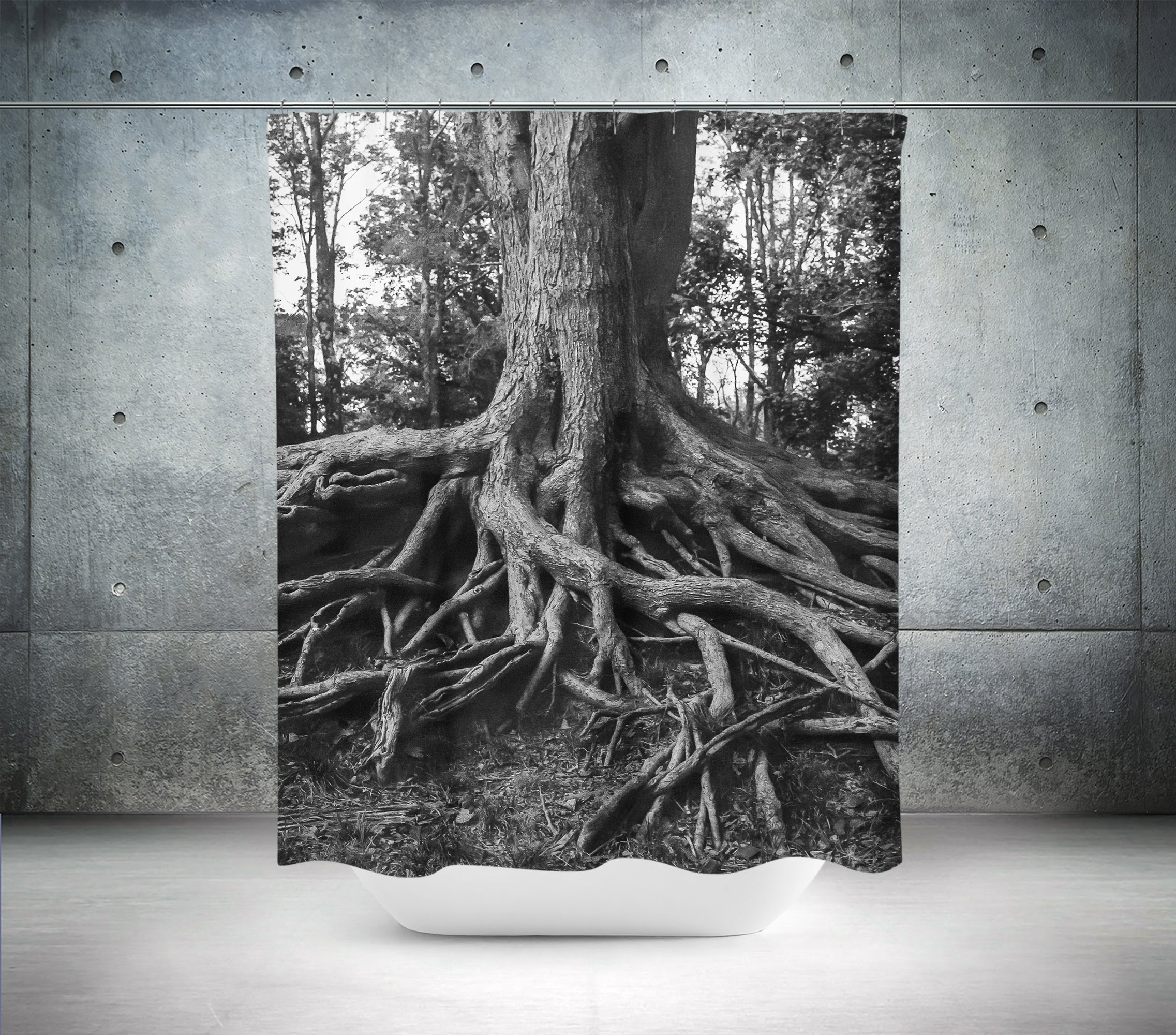 Roots of Life Modern Shower Curtain