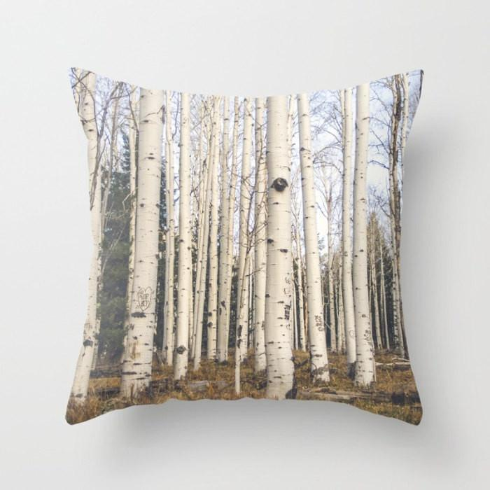 Trees of Reason Throw Pillow Lost In Nature