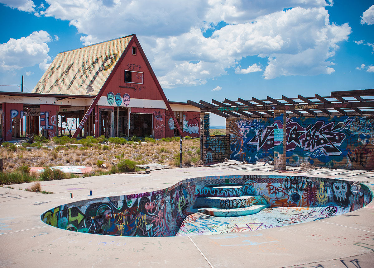 Graffiti Pool - Two Guns Arizona Photography