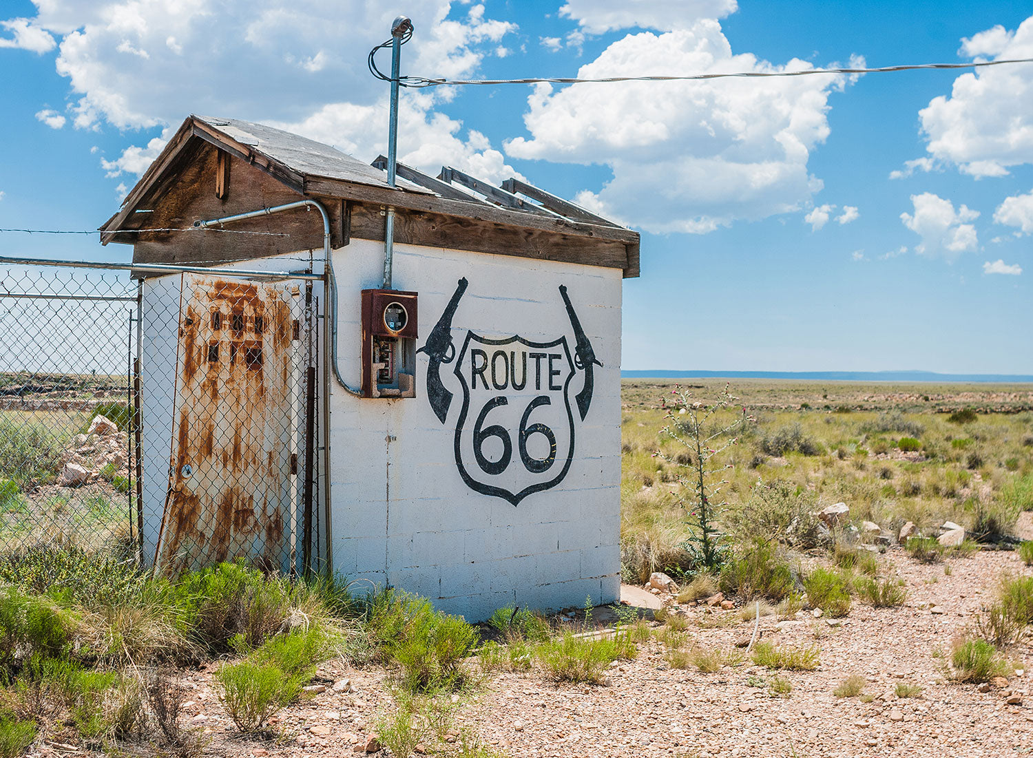 Route 66 - Two Guns Arizona Wall Art Print