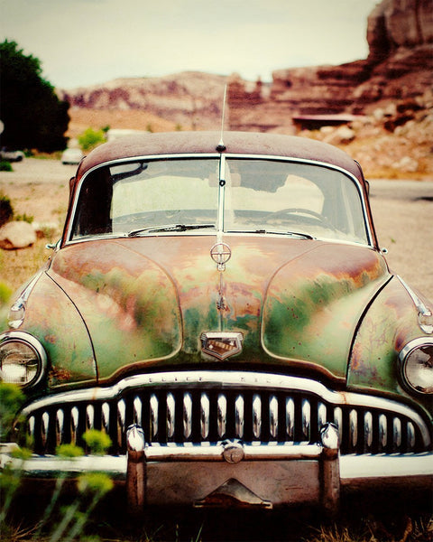 Utah Desert Buick, Vintage Car Photography Lost Kat Photography