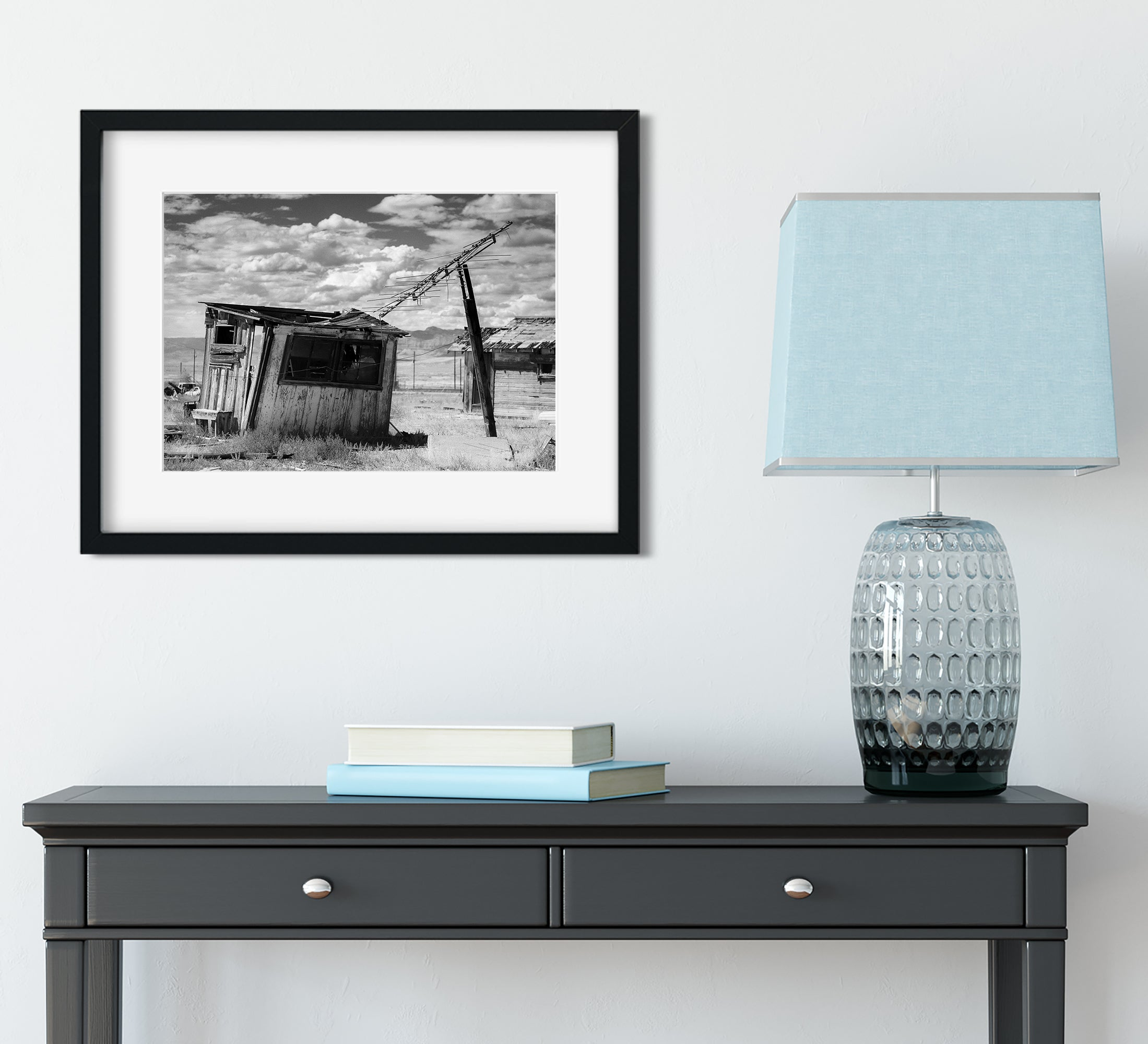 Leaning Shack, Utah Ghost Town Wall Art Print
