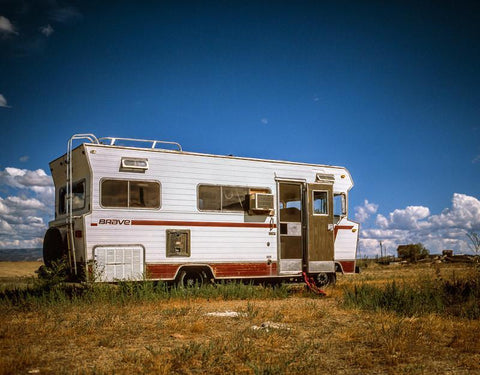 Vintage Brave RV, Utah Desert Photography Lost Kat Photography