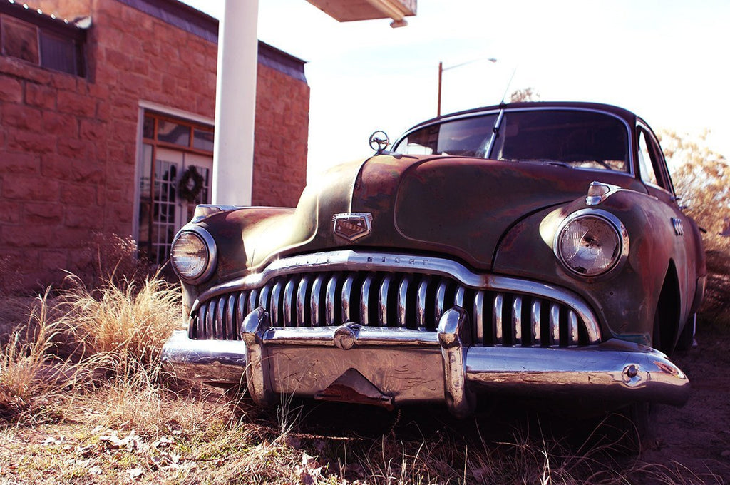 Vintage Buick Utah Abandoned Car Wall Art Print Many Sizes - Buick utah