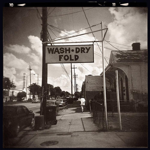 Wash, Dry, Fold, New Orleans Fine Art Print - Holga Film Lost Kat Photography