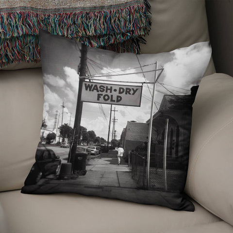 Wash Dry Fold New Orleans Throw Pillow Cover Lost in Nature